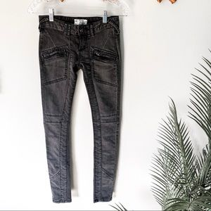 Free People | Low Rise Skinny Moto Jean